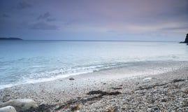 Cornish coastline in winter Royalty Free Stock Image