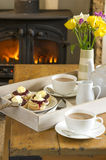 Cornish cream tea Royalty Free Stock Photos