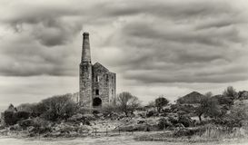 Cornish Engine House, Bodmin Moor, Cornwall royalty free stock photography
