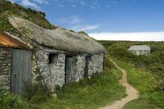 Cornish fisherman huts. A shot of old Cornish fisherman huts Royalty Free Stock Photo