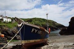 Cornish fishing boat Royalty Free Stock Images