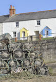 Cornish fishing village Stock Images