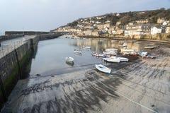 Cornish fishing village and harbor Cornwall England Stock Photography