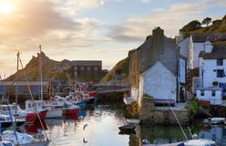 Cornish fishing village Royalty Free Stock Images