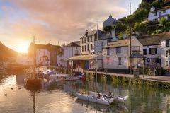 Cornish fishing village Royalty Free Stock Images