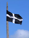 The Cornish flag of St. Piran. Royalty Free Stock Photography