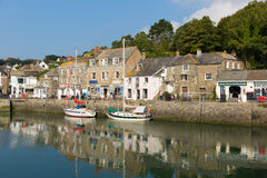 Cornish harbour scene in summer Padstow North Cornwall England UK royalty free stock images