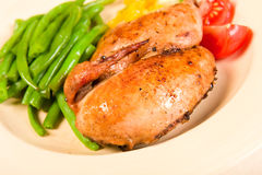 Free Cornish Hen Meal Royalty Free Stock Photography - 10063947