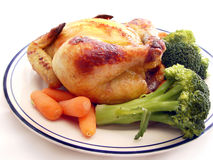 Cornish Hen Plate Royalty Free Stock Photography