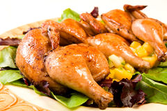Cornish Hen Serving Platter royalty free stock photo