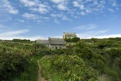 Cornish houses. A shot of 2 Cornish houses Royalty Free Stock Photo