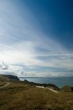 Cornish landscape and sky. Off the cliffs near bedruthin steps Stock Images