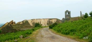 Cornish mine workings, Stock Image