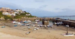 Cornish Newquay harbour North Cornwall England UK Stock Image