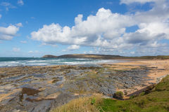 Cornish north coast Constantine Bay Cornwall England UK between Newquay and Padstow Stock Image