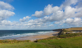 Cornish north coast Watergate Bay Cornwall England UK between Newquay and Padstow Stock Image