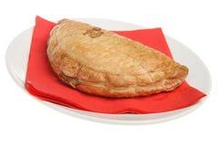 Cornish Pastie. Freshly baked Cornish pastie isolated on white Stock Photography