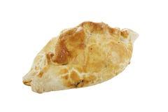 Cornish pasty. Traditional Cornish pasty on white background Royalty Free Stock Photography