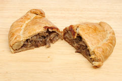 Cornish pasty on board Royalty Free Stock Image