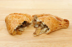 Cornish pasty halves Stock Images