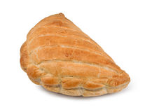 Cornish pasty isolated. A Single Cornish Pasty isolated against a white background Royalty Free Stock Photography