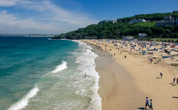 Cornish Sands. Beautiful beach at St Ives royalty free stock image