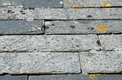 Cornish slate roof tiles Stock Photo
