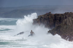 Free Cornish Storm At Sennen Cove Royalty Free Stock Images - 37651709