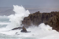 Cornish Storm at Sennen Cove Stock Photography