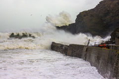 Cornish Storms 05. An Image of the Cornish storms battering the north coast of Cornwall, United Kingdom Stock Photography