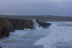 Cornish Storms 07. An Image of the Cornish storms battering the north coast of Cornwall, United Kingdom Royalty Free Stock Images