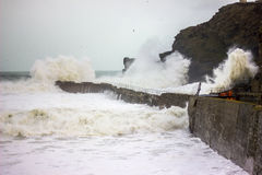 Cornish Storms 09. An Image of the Cornish storms battering the north coast of Cornwall, United Kingdom Stock Photos