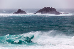 Cornish Storms at Cape Cornwall Royalty Free Stock Image