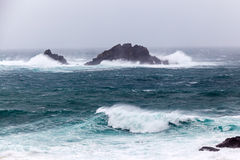 Cornish Storms at Cape Cornwall Royalty Free Stock Photography