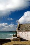 Cornish stuga på Porthleven Royaltyfri Fotografi