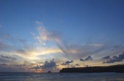 Cornish sunset royalty free stock photos