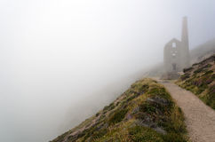 Cornish Tin Mine at Wheal Coates. The ruins of Towanroath pumping engine house at Wheal Coates at St. Agnes in Cornwall Stock Photos