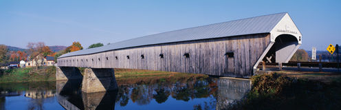 Cornish-Windsor Covered Bridge Stock Images