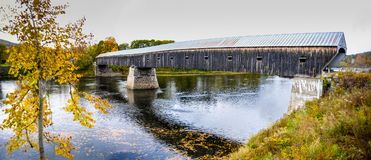 Cornish Windsor covered bridge royalty free stock photo