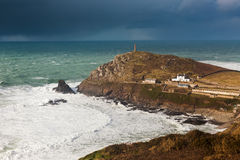 Cornish Winter Storm Stock Image