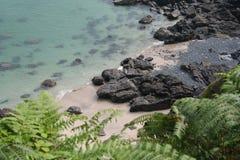 Avskild Zennor strand Arkivbilder