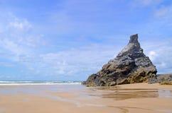 Cornisk strand, Bedruthan moment, Cornwall, UK Royaltyfri Fotografi