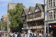 Cornmarket gata. Oxford. England Arkivfoto