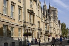 Cornmarket Street. Oxford. England Royalty Free Stock Images