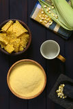 Cornmeal με Tortilla τα τσιπ Στοκ Εικόνες