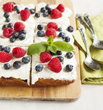 Cornmeal-berry sheet cake Royalty Free Stock Image