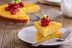 Cornmeal cake with berries Stock Photo