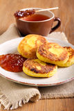 Cornmeal and cottage cheese fritters Stock Image