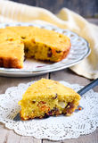 Cornmeal dried fruit cake Stock Image