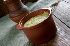 Cornmeal Pap Stock Photo